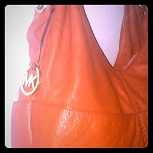 Michael Kors Orange Hobo Shoulder Bag